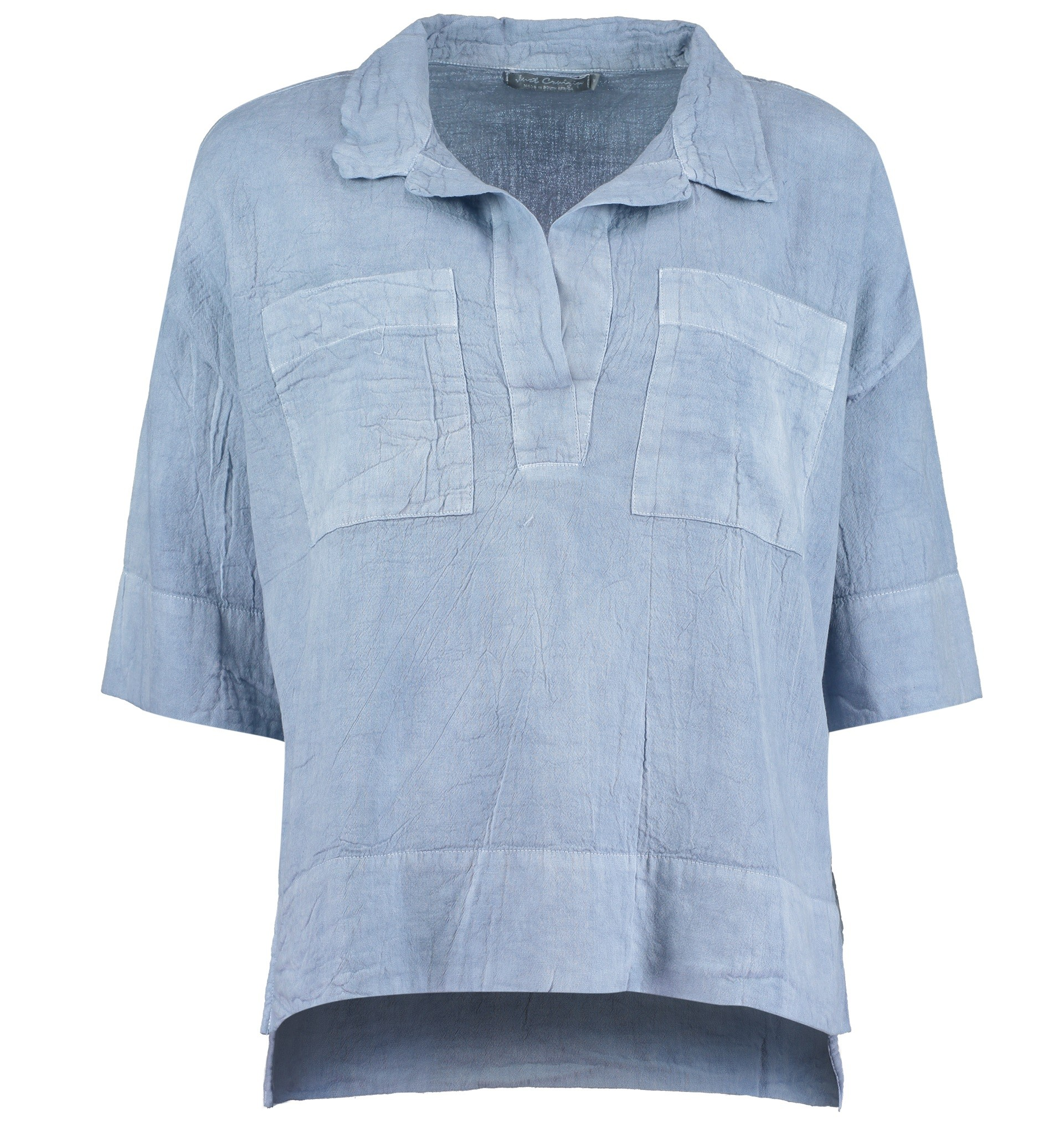 Box Style Shirt Pigment Blue By Just Cruizin Creative